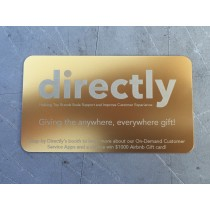 250 Thick Gold Metal Business Cards