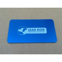 50 Thick Blue Metal Business Cards
