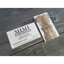 "100 - 1/32"" Birch Plywood Business Cards"