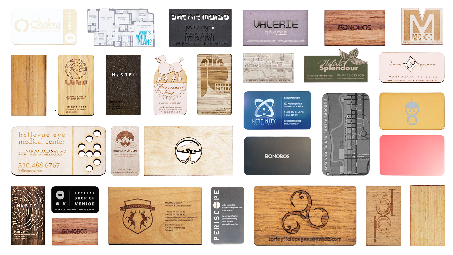 laser-cut business cards